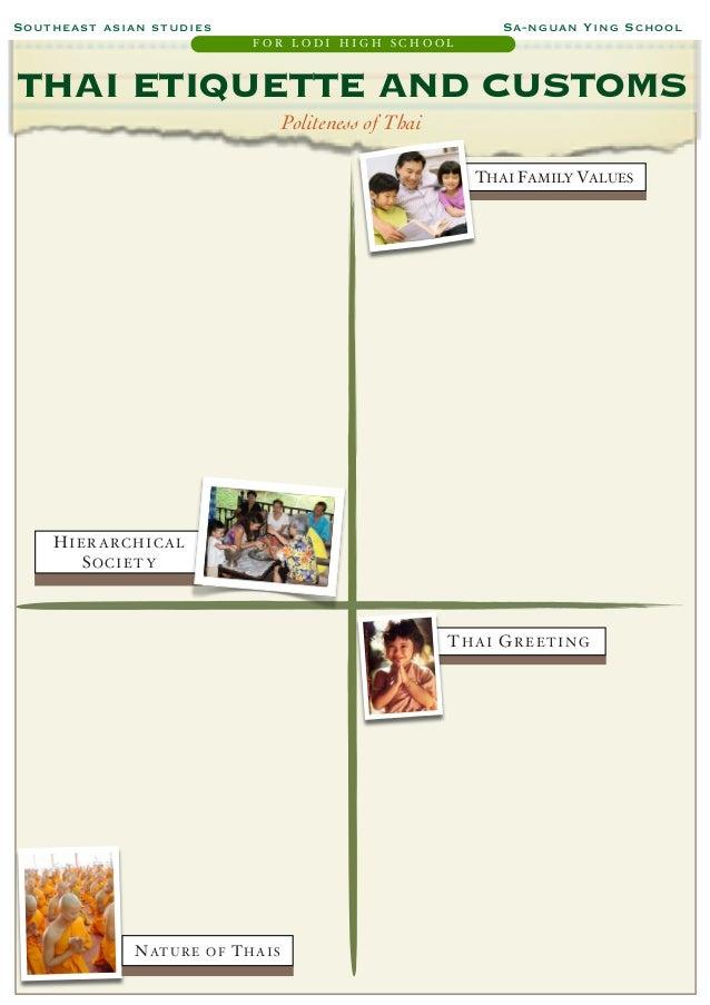 Study guide thai etiquette and customs