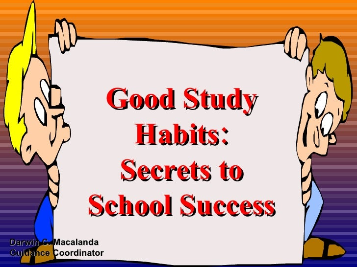 Essays on good study habits