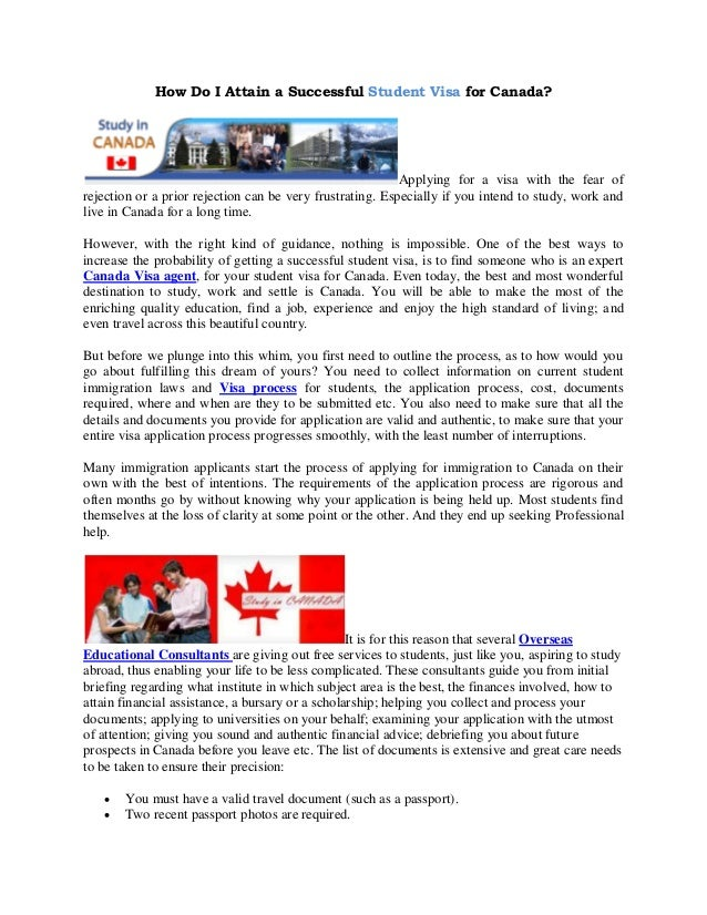 Sample Of Letter Of Explanation For Study In Canada