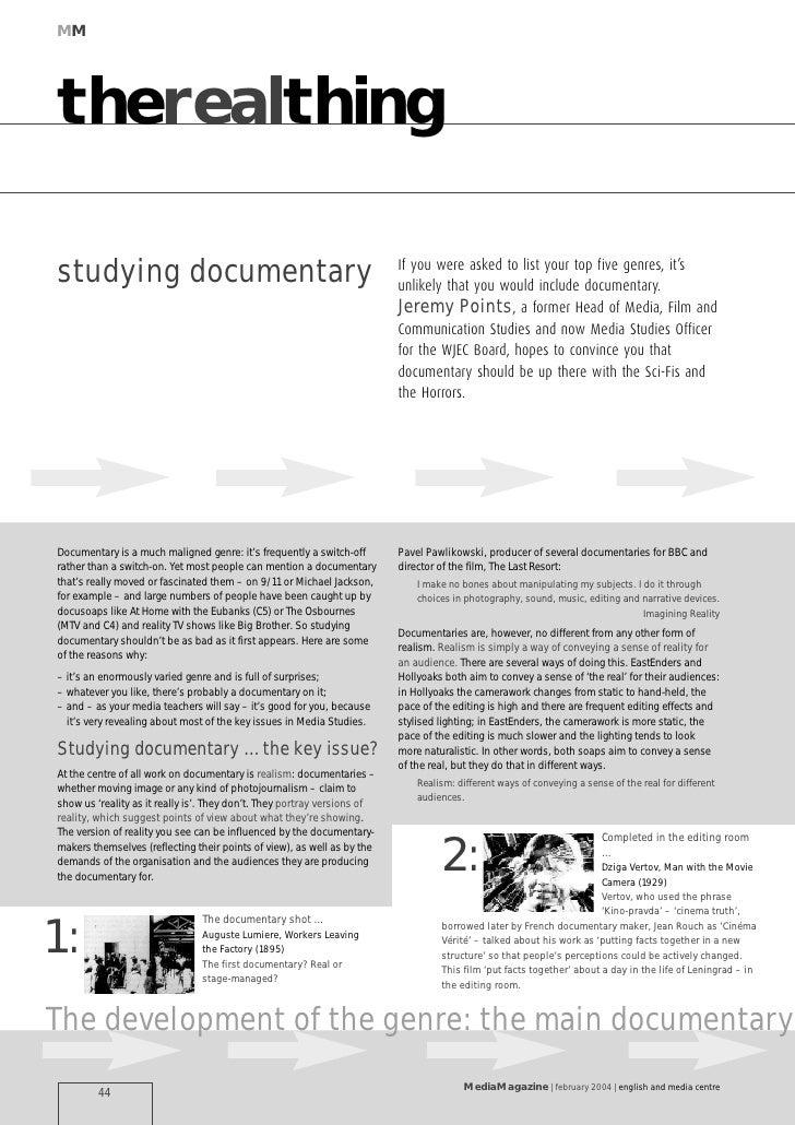 Studying documentary