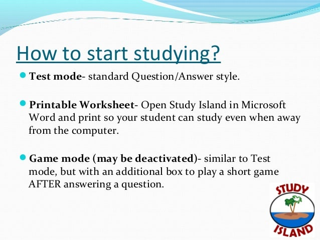 How to start studying ?