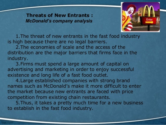 threat of new entrants marketing essay Marketing analysis of gloria jean's essay a+  the threat of entry of new entrants, (b) the threat of substitutes, (c) the bargaining power of buyers, (d) the .