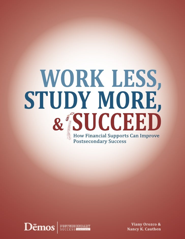 Preview of Work Less, Study More
