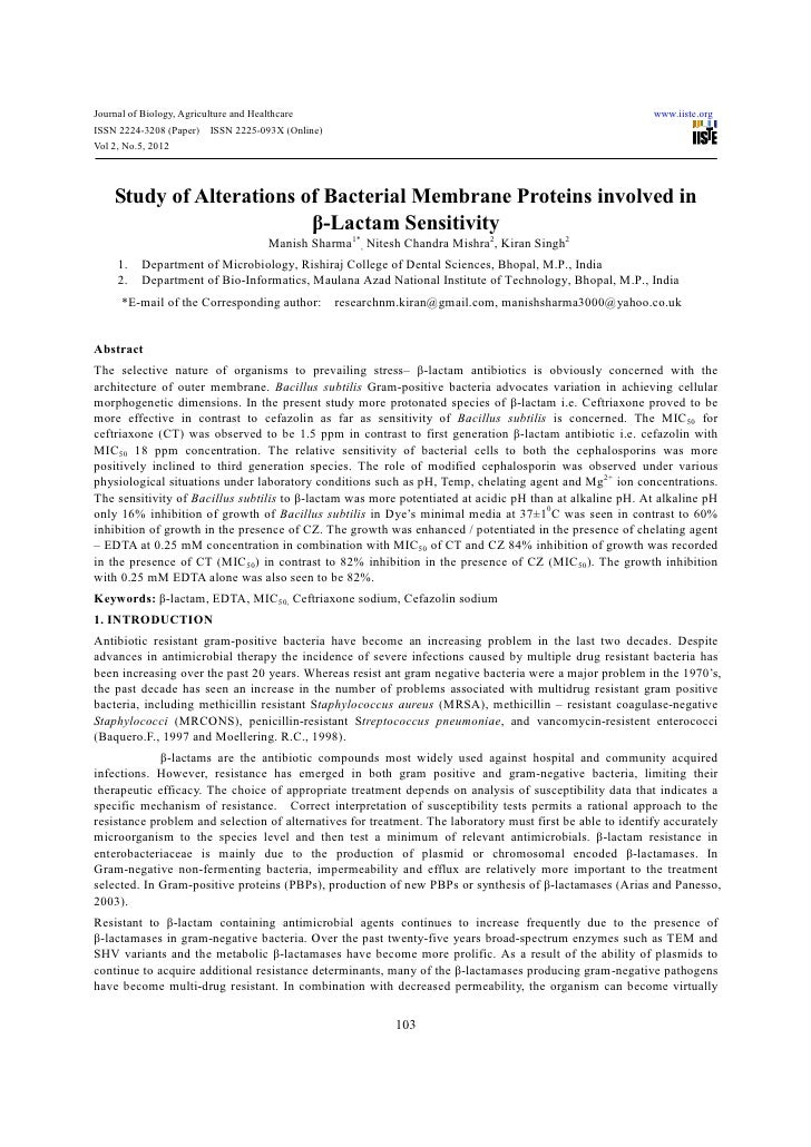 Journal of Biology, Agriculture and Healthcare                                                             www.iiste.orgIS...