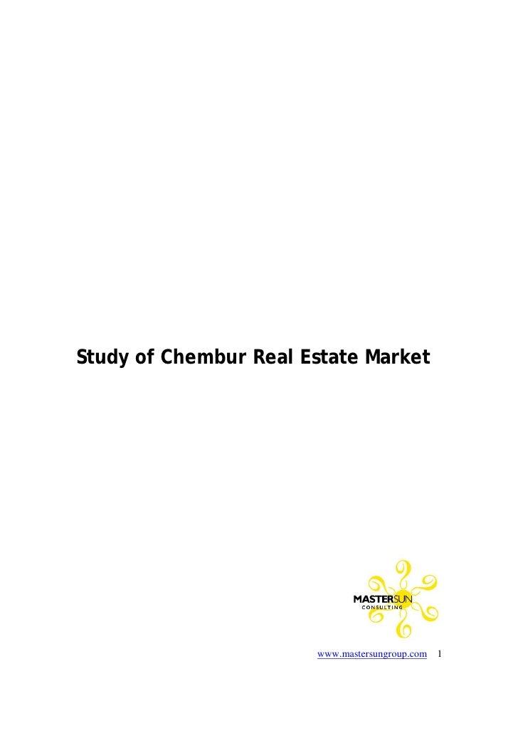 Study of real estate market   chembur