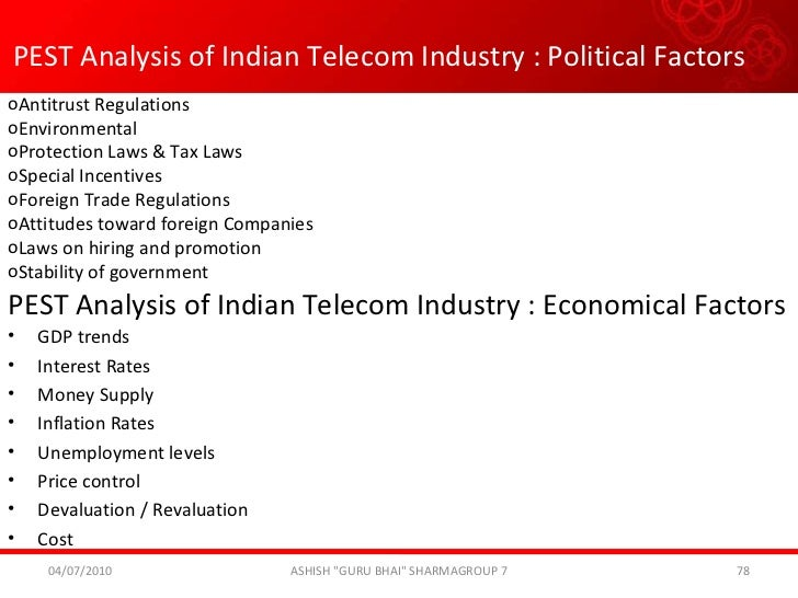 pest analysis for pakistan telecommunication company This allows focusing on the most important changes that might have an impact on the company pest analysis example  country's major telecom company announced its .