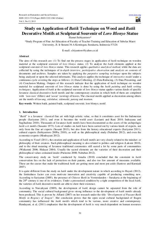 Research on Humanities and Social Sciences www.iiste.org ISSN 2222-1719 (Paper) ISSN 2222-2863 (Online) Vol.3, No.12, 2013...