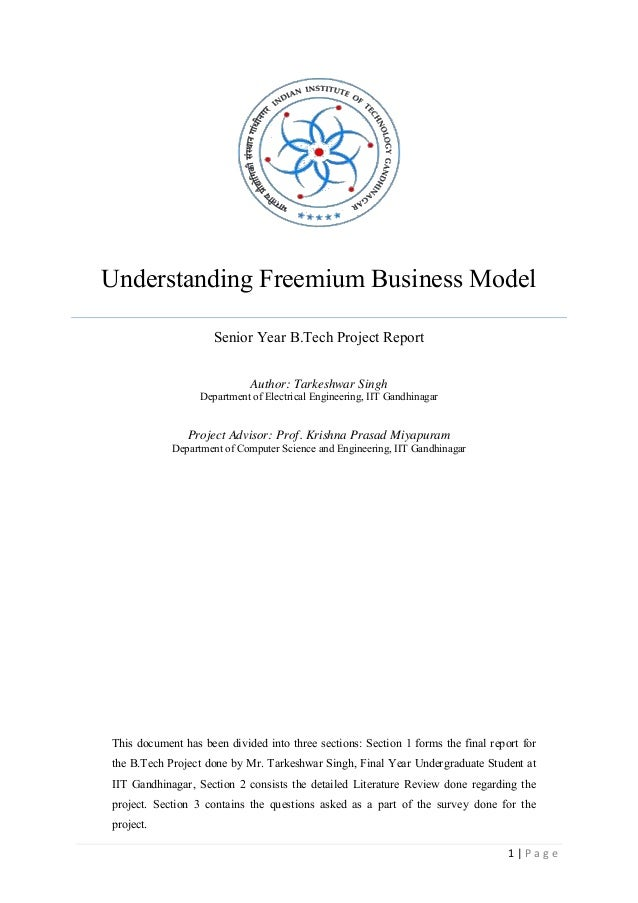 A Detailed Study on Freemium Model and understanding it using the lens of Behavioural Economucs