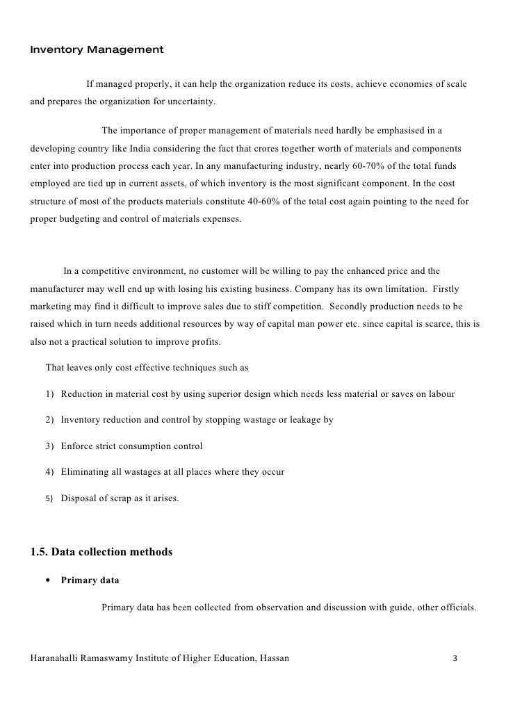 Inventory management literature review