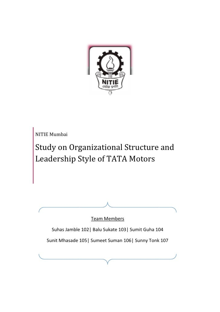 study on organizational structure and leadership Organizational structure is a setup or a  such as governing style, leadership  i am currently deciding how to identify the organization structure of the.
