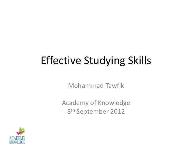 Effective Studying Skills