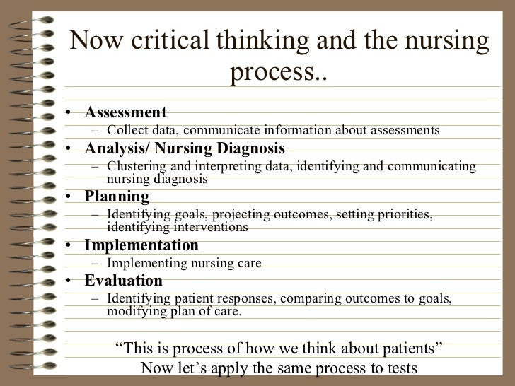 critical thinking in the nursing field essays
