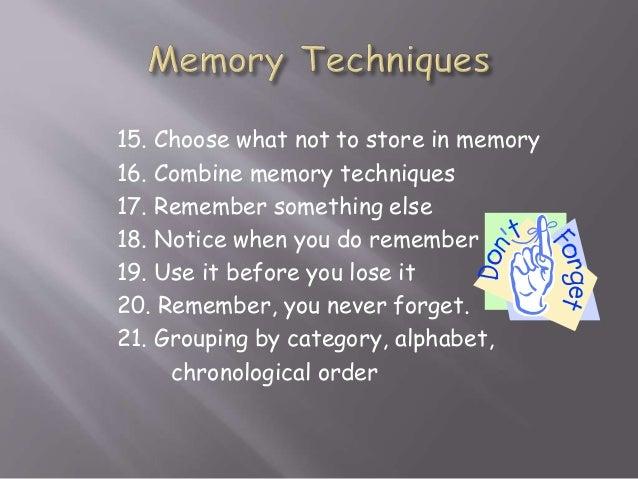 how to improve memory study skills