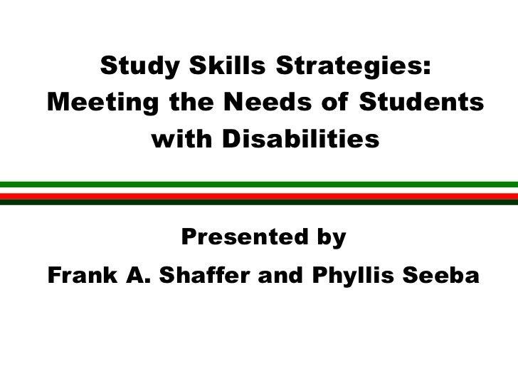 Study skillsuaa