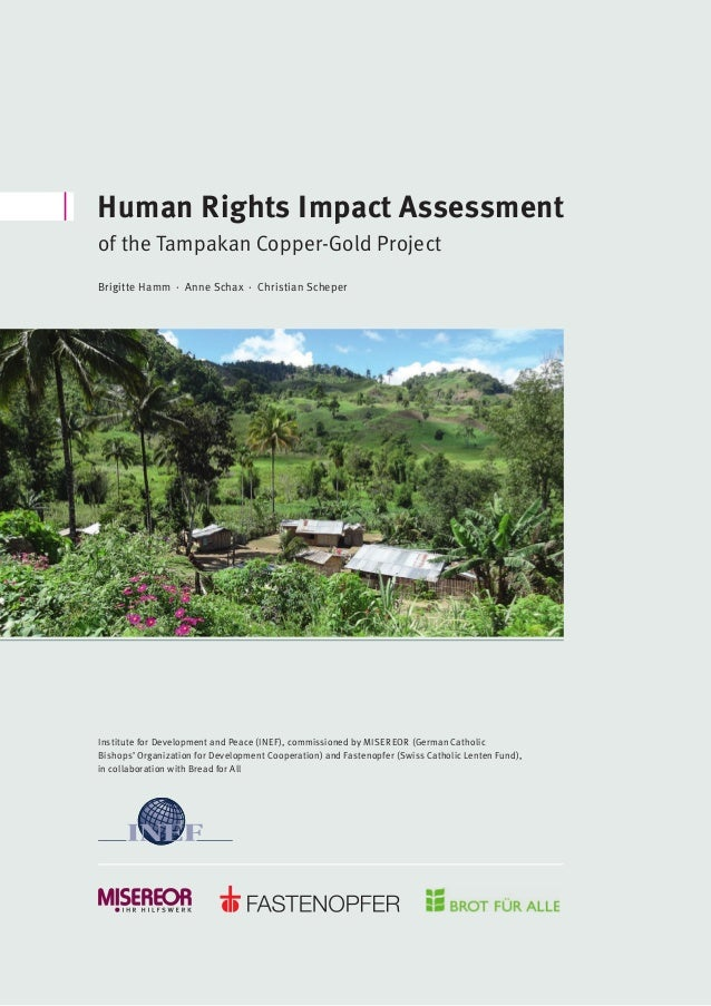 Preface by the Editors Human Rights Impact Assessment of the Tampakan Copper-Gold Project Institute for Development and Pe...