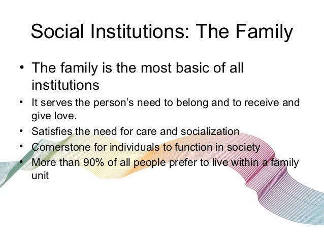 social institutions paper