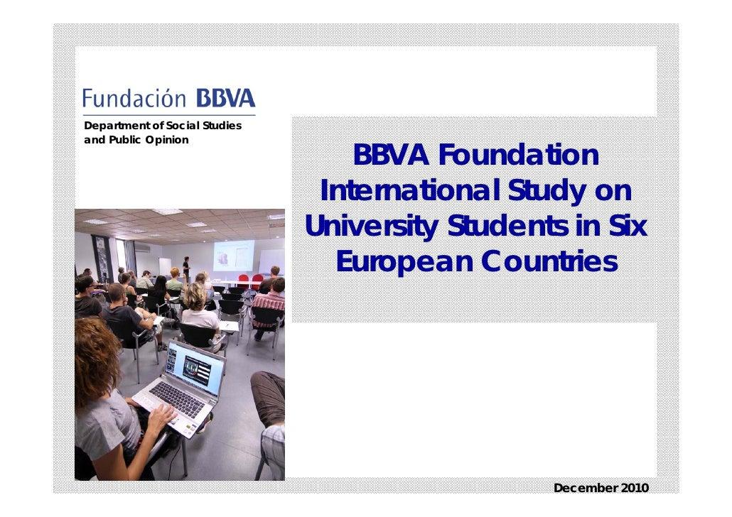 Study university students_2010 _ bbva foundation