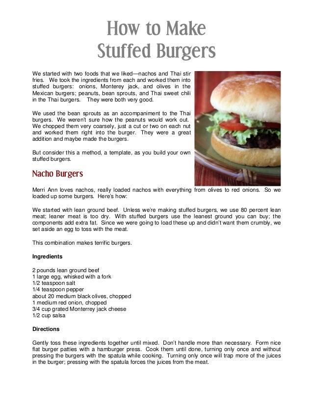 How to Make Stuffed Burgers