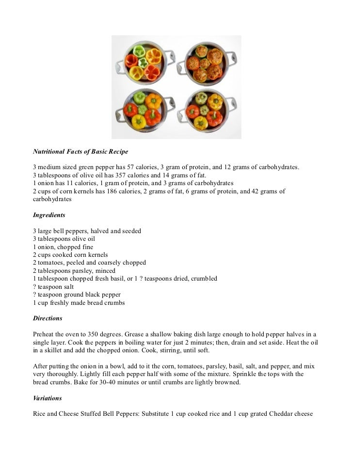 Stuffed Bell Peppers Basic Recipe with Variations
