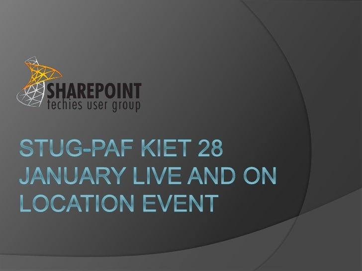 Stug-paf kiet 28 january live and on location-Enterprise Content Management