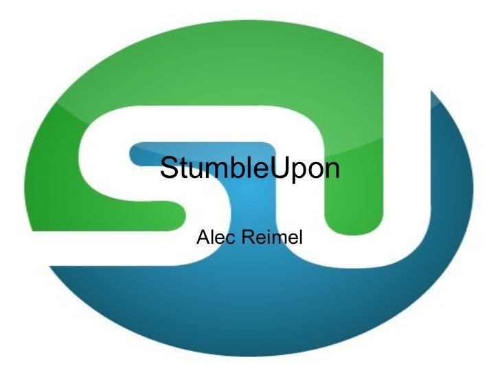 StumbleUpon Alec Reimel
