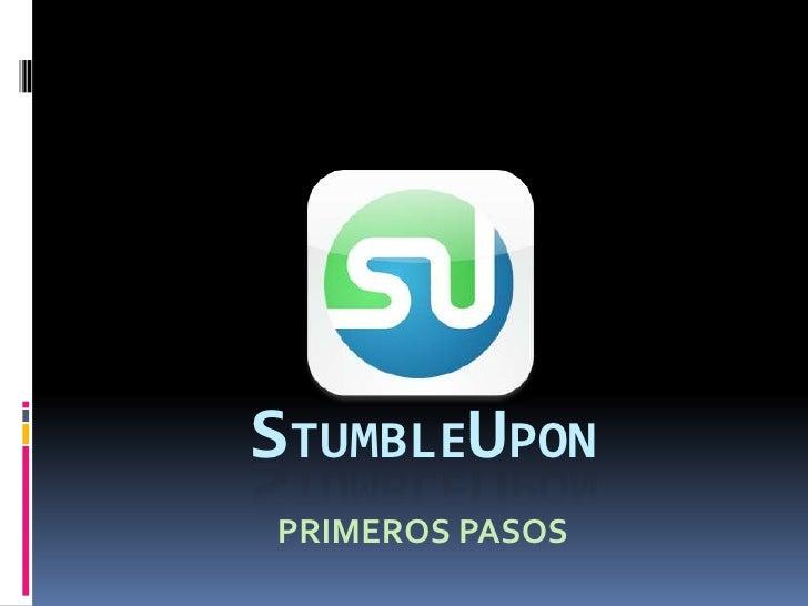 STUMBLEUPON PRIMEROS PASOS