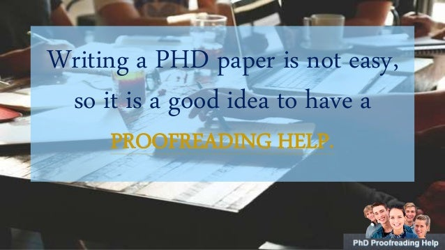 Phd thesis editing service