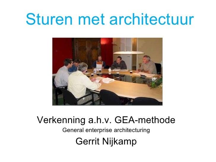 Sturen Met Architectuur met GEA V0.9