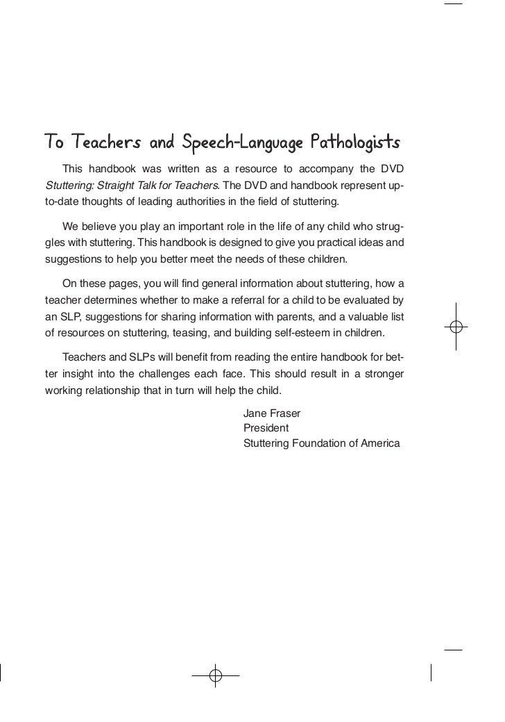 Stutterers & speech teachers,is this normal?