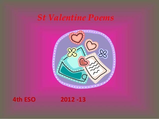 St Valentine Poems