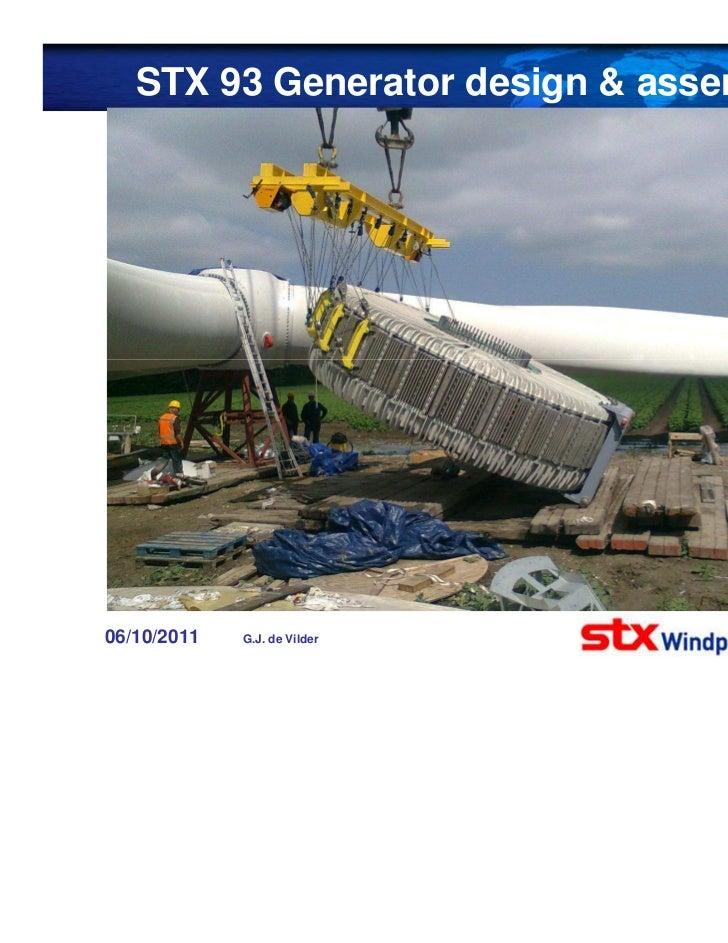 STX 93 generator design & assembly
