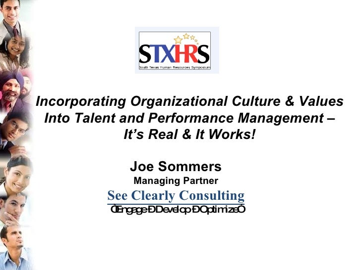 """Joe Sommers Managing Partner See Clearly Consulting """" Engage – Develop – Optimize"""" Incorporating Organizational Culture & ..."""