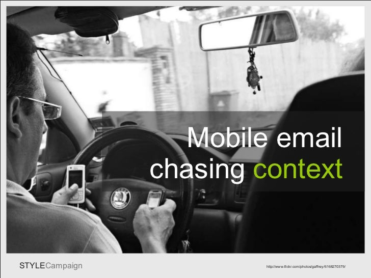 Mobile email -  chasing context