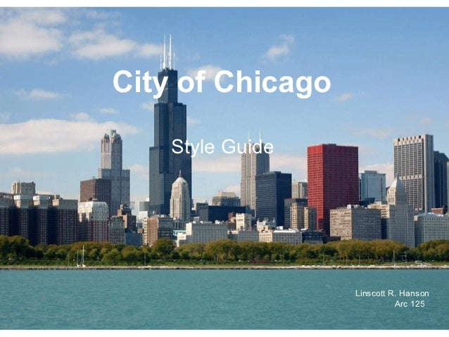 Style guide city of chicago