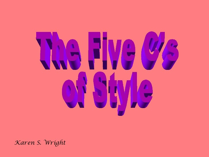 Style in writing copy