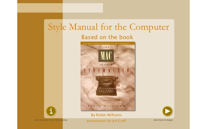 Style Manual for the Computer