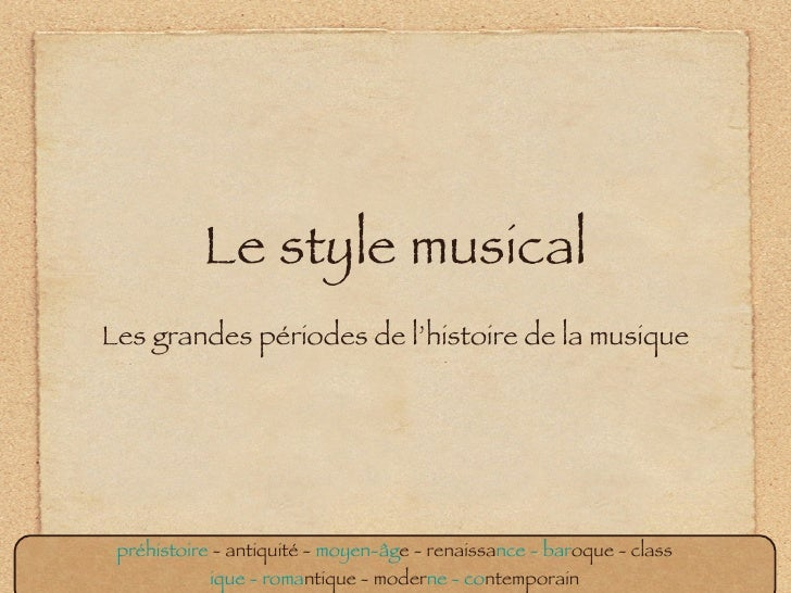 Style Musical