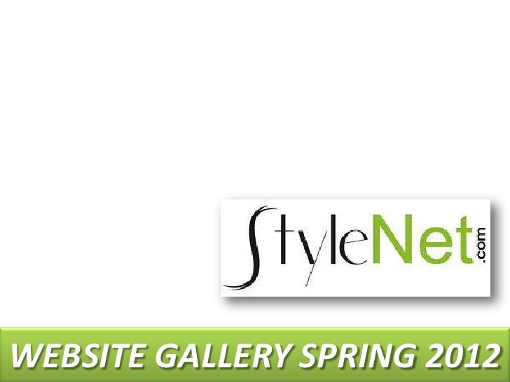 StyleNet Website_gallery_spring_2012