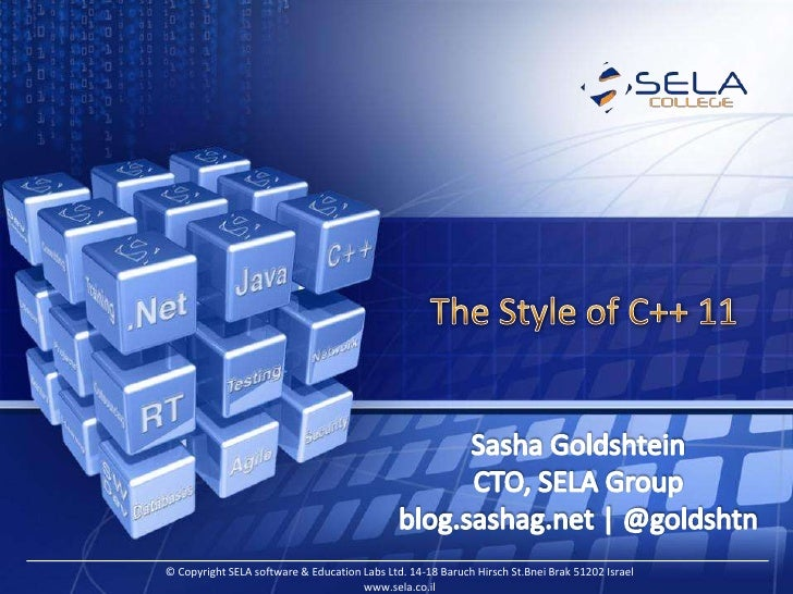 The Style of C++ 11