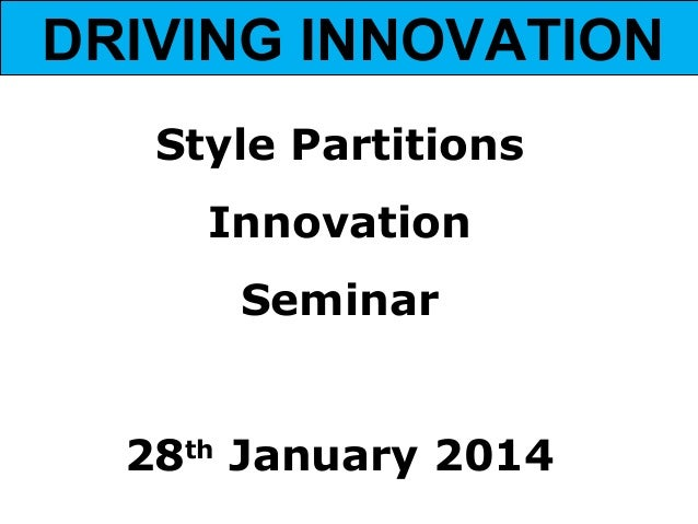 Style Partitions presentation 28.01.14