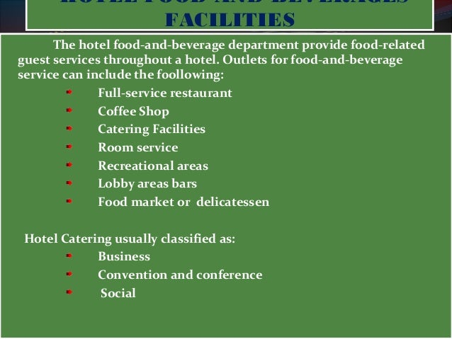 particular food and beverage outlets Food and beverage operations management introduction task 14 justify the suitability of systems for particular food and beverage outlets.