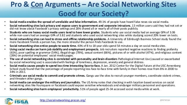 are social networks a good thing essay The good thing about this is that their voices are given weight in issues where the impact of social media and social networking sites on the behavior of children.