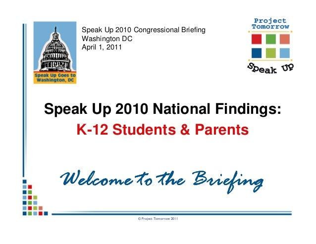Congressional Briefing (Students & Parents)