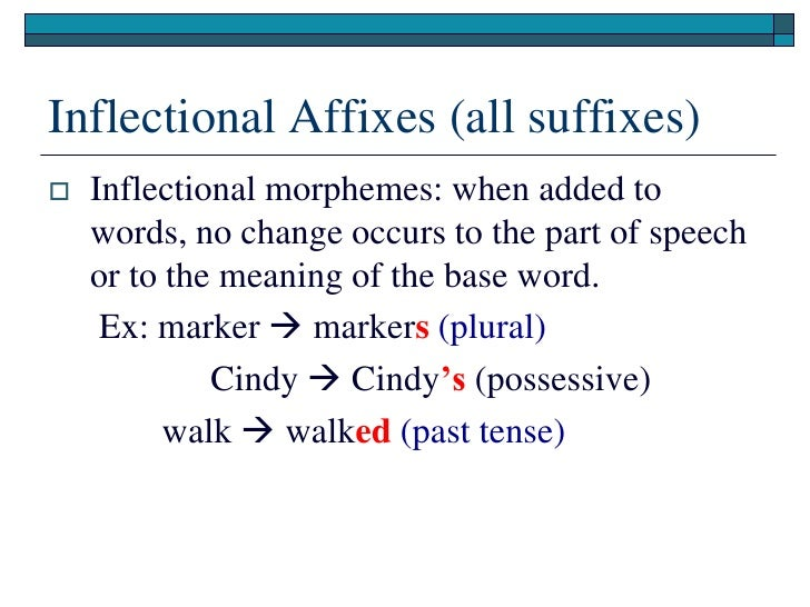 past tense and word added morpheme Word is the base word and which bit is the past tense,  word albatross contains only one morpheme  what are english morphemes, and why do they .