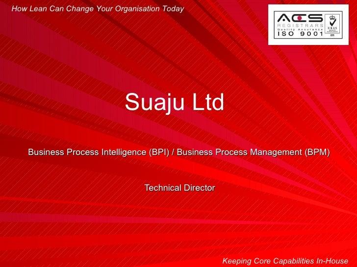 Suaju Business Process Intelligence Business Process Management Company Presentation