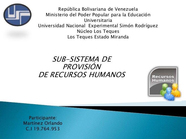 República Bolivariana de Venezuela <br />Ministerio del Poder Popular para la Educación Universitaria <br />Universidad Na...