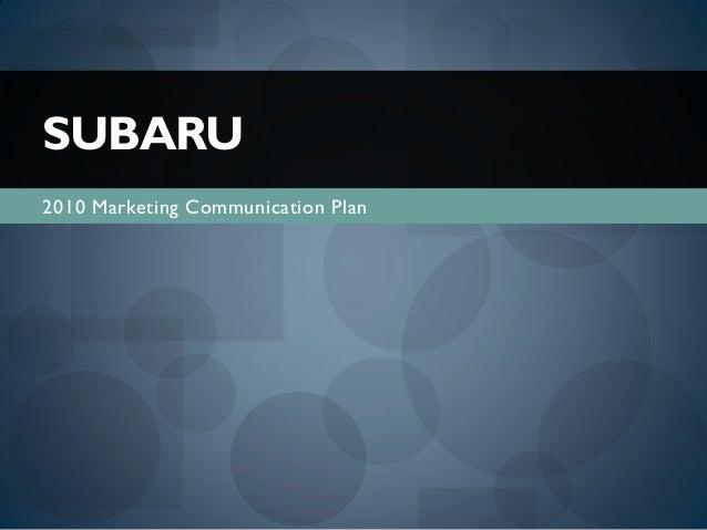 Subaru full IMC plan || A.Tantawy