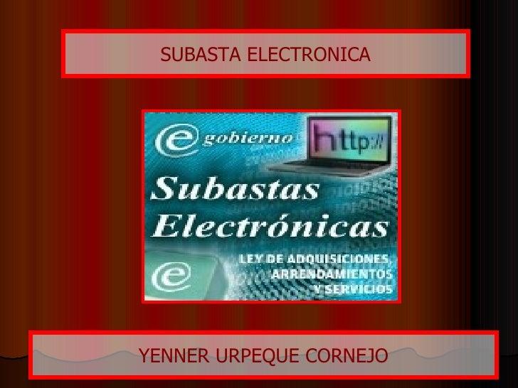 Subasta Electronica