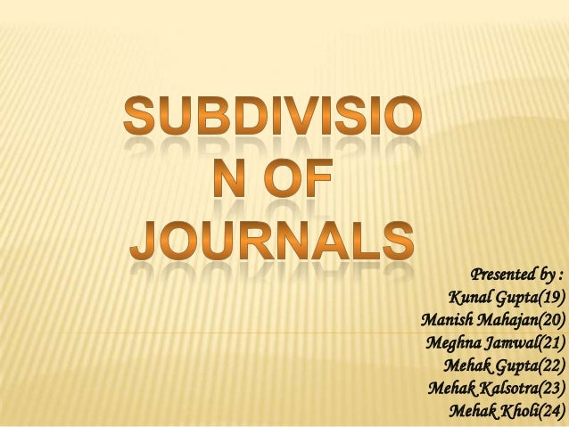 Sub division of journals