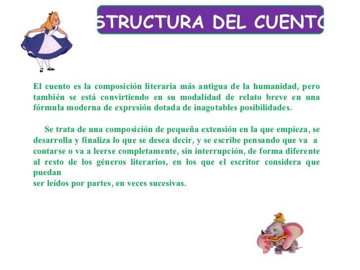 ESTRUCTURA DEL CUENTO   El cuento es la composición literaria más antigua de la humanidad, pero también se está convirtie...
